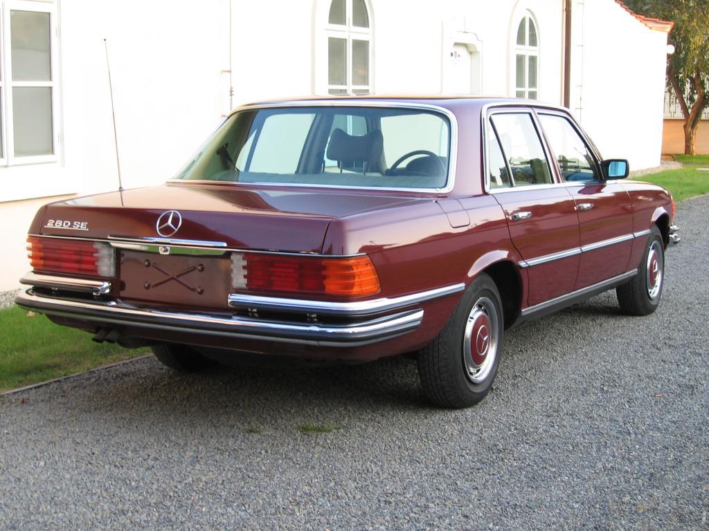 a 1973-80 W116 Mercedes by